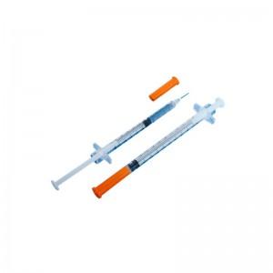 Шприц инсулиновый 1 мл u-100 (0.33 мм х 12.7 мм / 29G x 1/2) с интегрированной иглой