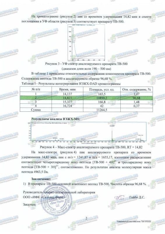 TB-500 хроматография